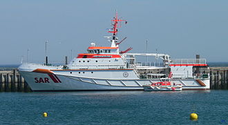 Search and rescue - A SAR cruiser of the German Maritime Search and Rescue Service