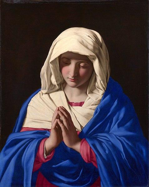 File:SASSOFERRATO - Virgen rezando (National Gallery, Londres, 1640-50).jpg