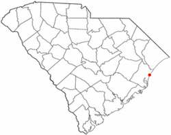Location of Pawleys Island inSouth Carolina