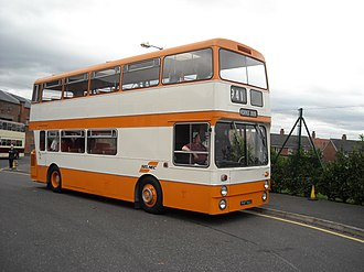 Greater Manchester Passenger Transport Executive - A preserved SELNEC-branded Leyland Atlantean bus at the Manchester Museum of Transport in October 2008