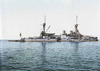 SMS Kurfürst Friedrich Wilhelm - Colorized photo of Kurfürst Friedrich Wilhelm while in German service