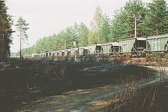 Saint Petersburg–Hiitola railway - Cargo train