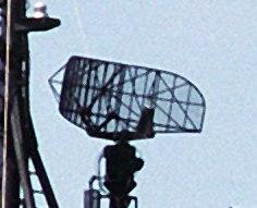 SPS-10 radar antenna on a Knox class frigate