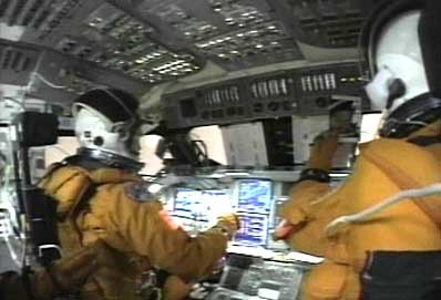 STS-107 Cockpit Video 3