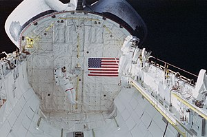 Jerome Apt - Jerry Ross and Jay Apt on the second EVA of STS-37, April 8, 1991