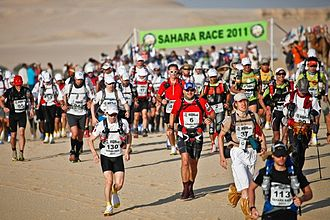 Ultramarathon - Ultramarathoners compete at the Sahara Race 2011 (4 Deserts)