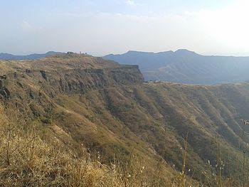 Sahyadri Mountain ranges-Sinhgad fort.jpg