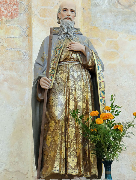File:Saint-Avit-Sénieur - Eglise Saint-Avit - L'ermite saint Avit.JPG