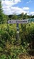 Saint-Priest-la-Vêtre - Panneau direction Crocombe (juil 2018).jpg