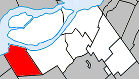 Location within Beauharnois-Salaberry Regional County Municipality.