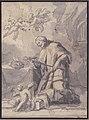 Saint John Nepomucen Venerating a Crucifix MET 80.3.293.jpg