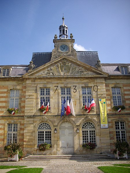 Town hall of Sainte-Menehould (Marne, France)