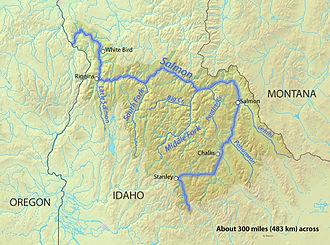 Salmon River (Idaho) - Image: Salmonrivermapfinal