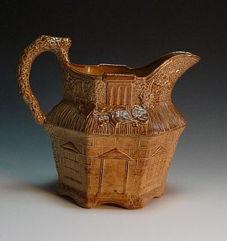Salt glaze pottery - Salt glaze jug, 19th century