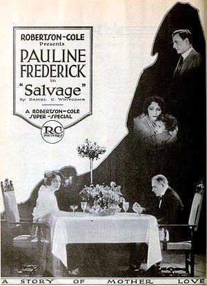 Salvage (1921 film) - Image: Salvage (1921) Ad 1