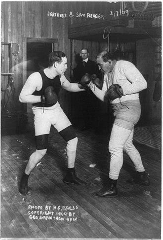 Samuel Berger (boxer) - Image: Sam Berger Jim Jeffries