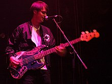 Farrar performing with Phantom Planet in 2008.