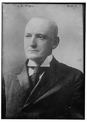 Samuel W. McCall - McCall circa 1920