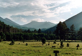 San Francisco Peaks - The San Francisco Peaks (with Agassiz center), Fall 2007.