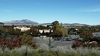 San Ramon, California - View of San Ramon, at the corner of Bollinger Canyon Rd. and San Ramon Valley Blvd. Mount Diablo is in the background on the left.