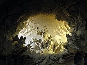 Giuseppe Maria Mazza - Image: San Giovanni Battista, 'Gloria' di Giuseppe Mazza (Minerbio)