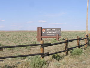 Sand Creek Massacre National Historic Site - Entrance sign for Sand Creek Massacre NHS