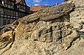 Sandsteinklippen des Schlossbergs in Quedlinburg. IMG 1925WI.jpg
