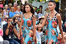 Contemporary Native American Fashion Show At The 2015 Santa Fe Indian  Market.