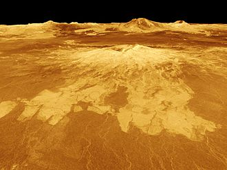 Sapas Mons - A computer-generated image of Sapas Mons, viewed from the northwest