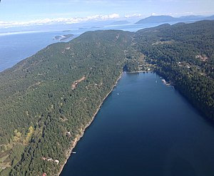 Saturna Island - South-facing aerial view of Saturna Island