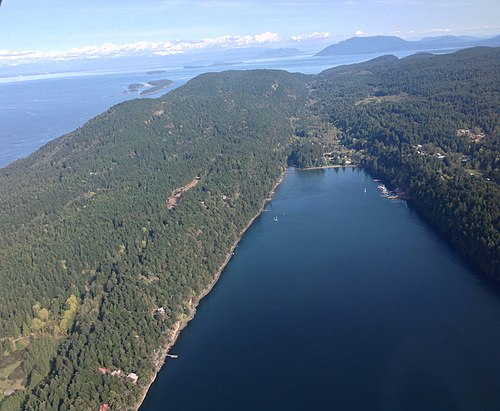 South-facing aerial view of Saturna Island - Saturna Island