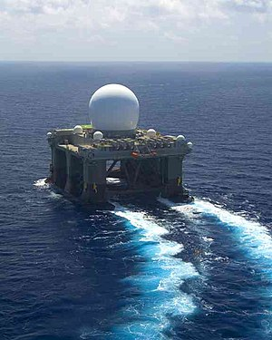 Sea-based X-band Radar - The Sea-Based X-Band Radar underway
