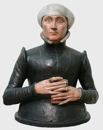Johan Gregor van der Schardt - Bust of Anna Imhoff, c.1580?