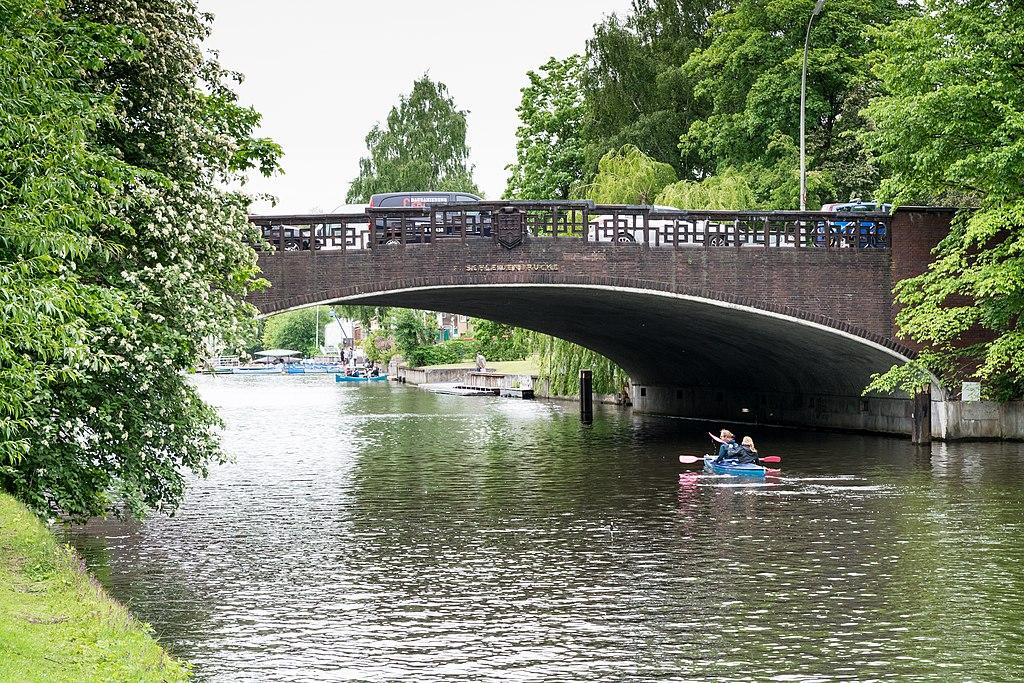 Puente Schleidenbrücke, Hamburgo (Alemania).