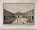 School of Medicine, Paris; the interior court. Coloured etch Wellcome V0014275.jpg