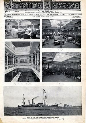 Prinzessin Victoria Luise - Interior and exterior views of the ship (1901 Scientific American cover)