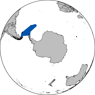 Scotia Sea - Approximate area of the sea in the Southern Hemisphere