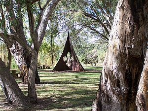 Floreat, Western Australia - Sculpture to commemorate the 1979 Jamboree at Perry Lakes and 75 years of Scouts