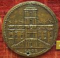 Scuola romana, medaglia di gregorio XIII, facciata del campidoglio.JPG
