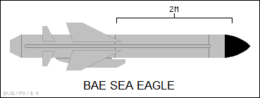 Sea Eagle anti-ship missile side-view silhouette.png