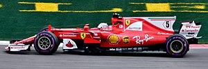 Ferrari SF70H - Image: Sebastian Vettel driving the Ferrari SF70H (35329684512)