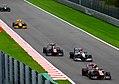 Sebastien Buemi, Michael Schumacher, Jaime Alguersuari, Robert Kubica & Heikki Kovalainen (4957416220).jpg