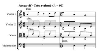 Hemiola -  Second movement of Ravel Quartet.