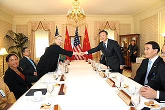 Yang Jiechi - Yang Jiechi with the United States Secretary of State Hillary Clinton