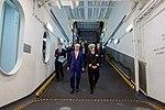 Secretary Kerry Walks Down a Ramp in the USS San Antonio (22902366266).jpg