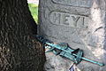 Section 1 marker consumed by tree - Arlington National Cemetery - 2011.JPG
