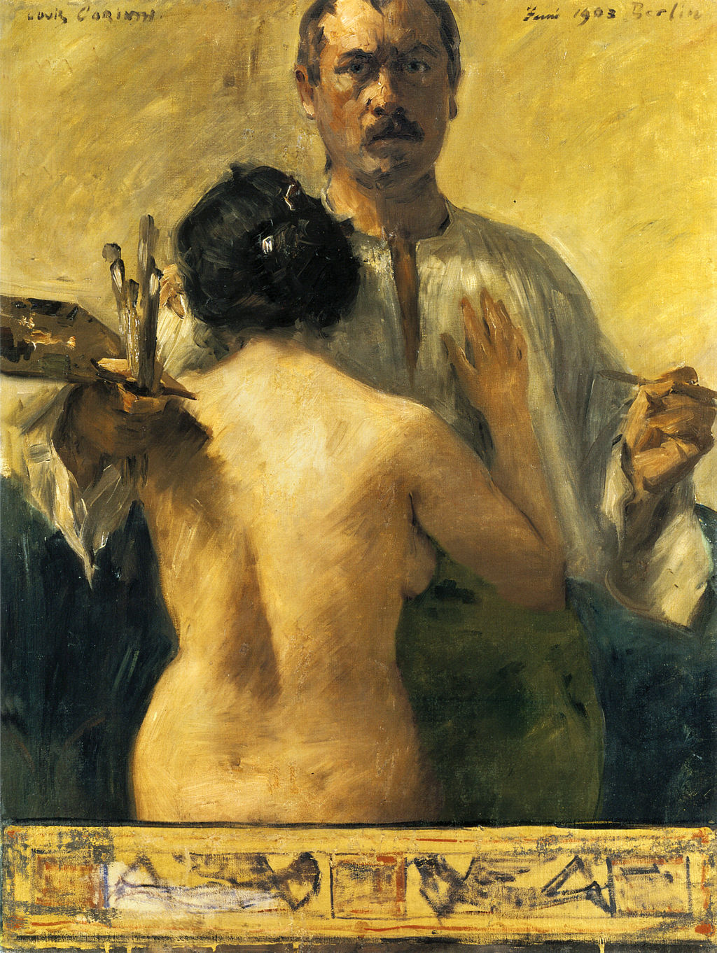 Self-portrait with Model by Lovis Corinth