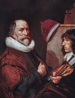 Self portrait, by Michiel van Mierevelt