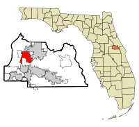 Seminole County Florida Incorporated and Unincorporated areas Lake Mary Highlighted.svg
