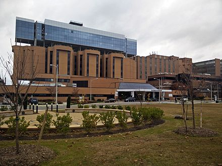Sentara Norfolk General Hospital, part of the Hampton Roads based Sentara Health System and a teaching institution of Eastern Virginia Medical School, was the site of the first successful in-vitro fertilization birth. Sentara Norfolk General.jpg